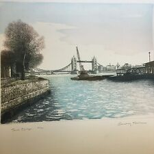 Ashley Bolch Coloured Etching Tower Bridge 35/250 Ltd Ed Pencil Signed