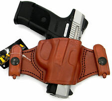 TAGUA BROWN LEATHER DUAL SNAP-ON QUICK DRAW OWB BELT HOLSTER - BERETTA PX4 STORM