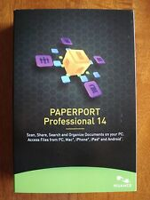 Nuance Paperport Professional 14 (windows 8 ready) Brand New in Sealed Retail