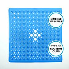 """Square Shower Mat (21""""W x 21""""L) in Blue by SlipX Solutions"""