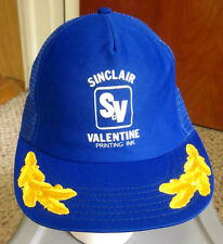 SINCLAIR VALENTINE trucker cap Ann Arbor Michigan INK captain's hat snapback vtg