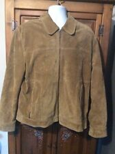 Nicole Miller Men's Brown Leather Jacket Size Large