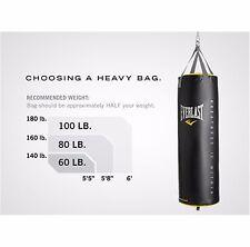 Everlast Punching Bag 100 Pound Heavy Kick Boxing Workout MMA Sport PowerCore