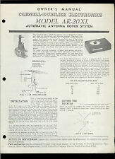 Rare Original Factory CDE AR 20 XL Antenna Rotor System Owner's Manual CB HAM TV