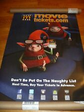 RARE ELVES BELLS D/S MOVIE POSTER PROMOTIONAL MovieTickets.com, Christmas,xmas