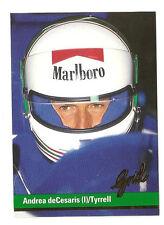 F1 Card - Andrea deCesaris - Tyrrell - Formula 1 Racing