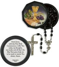 "MRT Catholic Body of Christ First Holy Communion Boy Rosary 18"" w Gift Case Set"