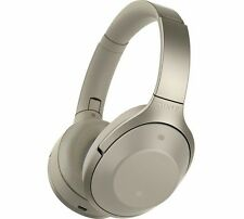 SONY MDR-1000X Wireless Bluetooth Noise-Cancelling Headphones - Grey Beige.
