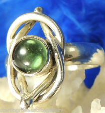 Vintage Green Two Together STERLING SILVER 0.925 Ring Size 5.5 or K 1/2