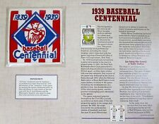 1939 BASEBALL CENTENNIAL PATCH 100 Years COOPERSTOWN COLLECTION Willabee & Ward