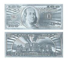 BILLETE 100$ US DOLLAR REPLICA PLATA SILVER