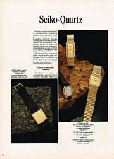 PUBLICITE ADVERTISING 064  1979  SEIKO-QUARTZ  collection montres