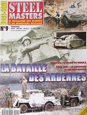 MAQUETTE FIGURINE MILITAIRE WW2 REVUE STEEL MASTERS HS N° 9 BATAILLE ARDENNES 2