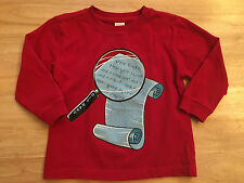 Baby Boy Dear Santa Letter Holliday Red Shirt 2T Old Navy