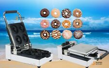 New 1090W Commercial 4 Lattice Electric Donut Making Machine Flour Donut Maker