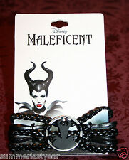 "2014 ""MALEFICENT"" SILHOUETTE LEATHER CORD BRACELET DISNEY MALEFICENT"
