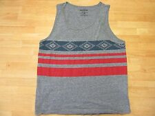 True Religion Mens Tank T-shirt Sleeveless Gray Large