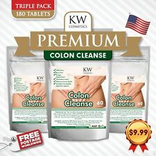 3 x COLON CLEANSE*SUPER FLUSH*ALL ORGANIC HERBS*FLUSH POUNDS*LOSE WEIGHT*DETOX