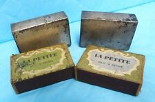 VTG 2 STER SILVER MATCHBOX COVER SLEAVES + 2 LA PETITE MATCH BOXES A1#19