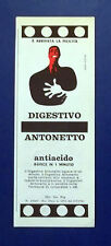 A706-Advertising Pubblicità-1962-DIGESTIVO ANTIACIDO ANTONETTO