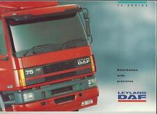 LEYLAND DAF 75 SERIES LORRY TRUCK SALES BROCHURE 1993