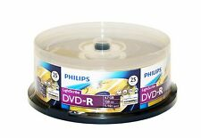 Free Priority Ship 25 pk Philips LightScribe 4.7GB 16X DVD-R Blank Media Disc