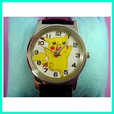 Pokemon Pikachu Quartz Fashion Child Boy Men Wrist Watch Wristwatch FREE SHIP