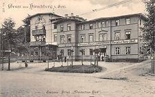 Hirschberg Schlesien Strauss Hotel Deutscher Hof Postkarte