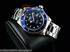 Invicta Men Original Submariner Pro Diver Automatic Exhibition Blue DL SS Watch