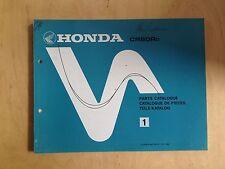 Honda CR 60 rd piezas de repuesto catálogo/Parts List