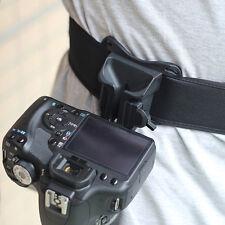 Capture DSLR Digital Camera Waist Belt Holster Quick Strap Buckle Hanger Clip