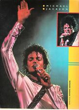 MICHAEL JACKSON arm raised live 1987 magazine PHOTO / Pin Up / Poster 11x8 inch
