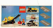 LEGO    670   LIBRETTO   NOTICE / INSTRUCTIONS BOOKLET / BAUANLEITUNG
