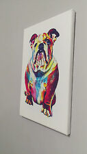 British/english Bull Dog Art canvas 14 x 9