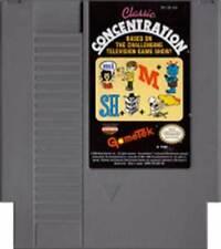 Classic Concentration - NES Nintendo Rare Game