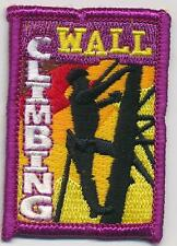 Girl Boy Cub CLIMBING WALL indoor Rock Fun Crests Badges SCOUTS GUIDE tour visit