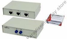RJ45 Network/Ethernet AB 2way/port manual switch box 8P8C, use with Cat5e Cat6{T