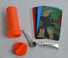Inflatable Boat Kayak Repair Kit Valve Wrench Container Bucket PVC Patch Glue