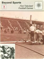 First Televised FOOTBALL GAMES 1979 Sportscaster card  #69-12 (HIGH#)  Skip Walz