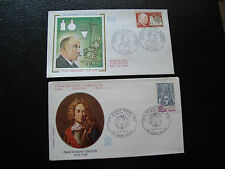 FRANCE  - 2 enveloppes 1971/1973 (victor grignard/duguay-trouin) (cy73) french