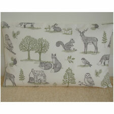 """20""""x12"""" Oblong Bolster Cushion Cover Foxes Stags Squirrel Rabbit Owl Tree Fox"""