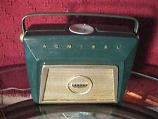 MID-CENTURY 1950'S ADMIRAL AM TUBE RADIO GREEN! WORKING SHARP CONDITION AC Cord