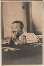 Antique Real Photo Postcard / Baby Portrait / Japanese / Dated 1939