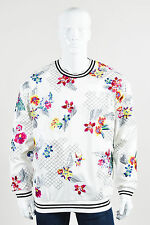 MENS 3.1 Phillip Lim NWT $695 White Multicolor Floral Embroidered Pullover SZ L