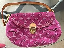 Authentic Louis Vuitton Denim Mini Pleaty in Fuschia Fuchsia Hot Pink