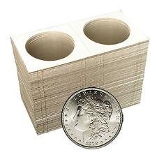 100 - 2x2 SILVER DOLLAR Mylar Cardboard Coin Holder Flips - Coin Supplies