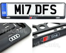 Audi S-Line Standart License Frames Plates UK NEW 2pcs.