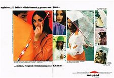 Publicité Advertising 1967 (2 pages) Les parapluies Neyrat par Emmanuelle Khanh
