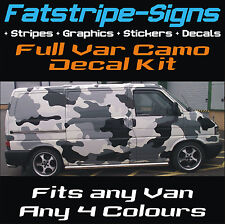 FULL VAN CAR CAMO KIT GRAPHICS STICKERS DECALS CAMOUFLAGE BONNET ROOF VINYL WRAP