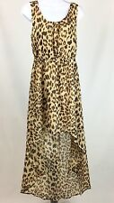 Forever 21 Leopard Animal Print High-Low Sleeveless Blouson Casual Dress Size M